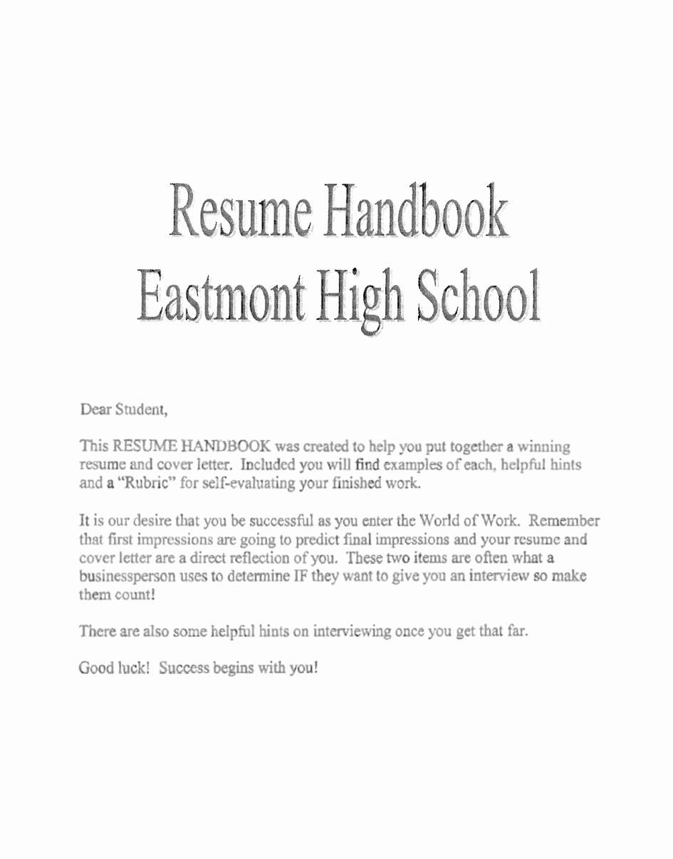 Cover Letter for First Job Unique Example Letter for Internship High School – Perfect Resume
