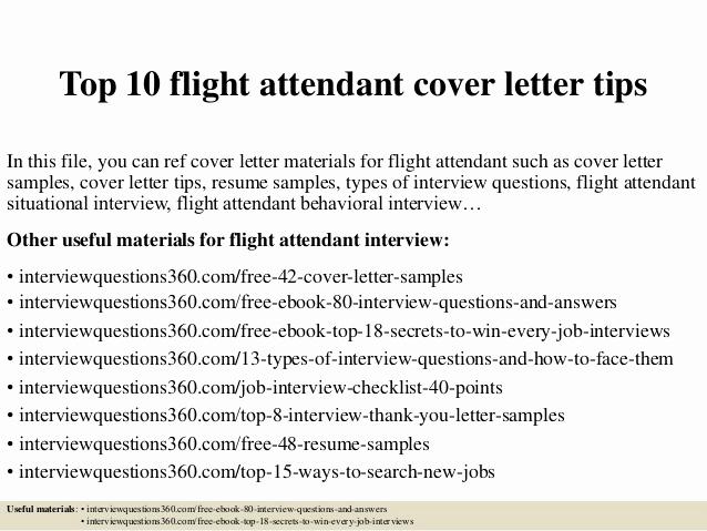 Cover Letter for Flight attendant Fresh top 10 Flight attendant Cover Letter Tips