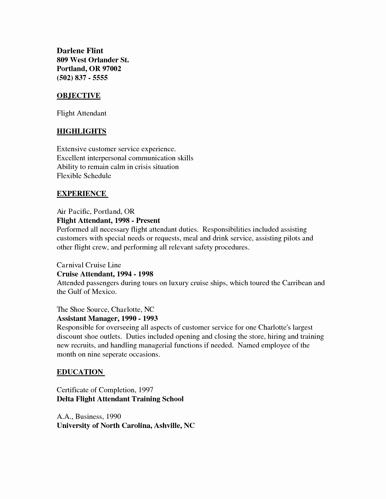 Cover Letter for Flight attendant Inspirational 31 Good Flight attendant Resume No Experience Ts U