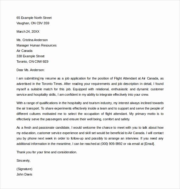 Cover Letter for Flight attendant New 7 Flight attendant Cover Letters