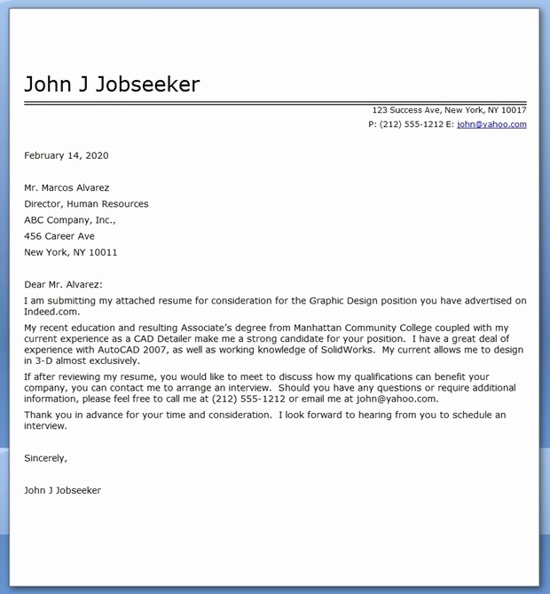 Cover Letter for Graphic Designer Beautiful Graphic Design Cover Letter Sample Pdf