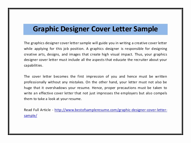 Cover Letter for Graphic Designer Elegant Graphic Designer Cover Letter Sample Pdf