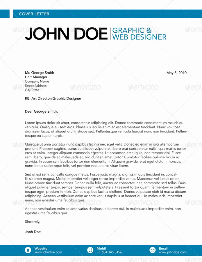 Cover Letter for Graphic Designer Luxury Cover Letter Graphic & Web Designer