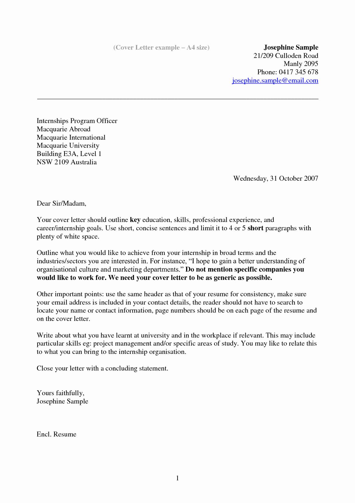Cover Letter for Internship Examples Lovely Resume Example Resume Cover Letter Example Internship