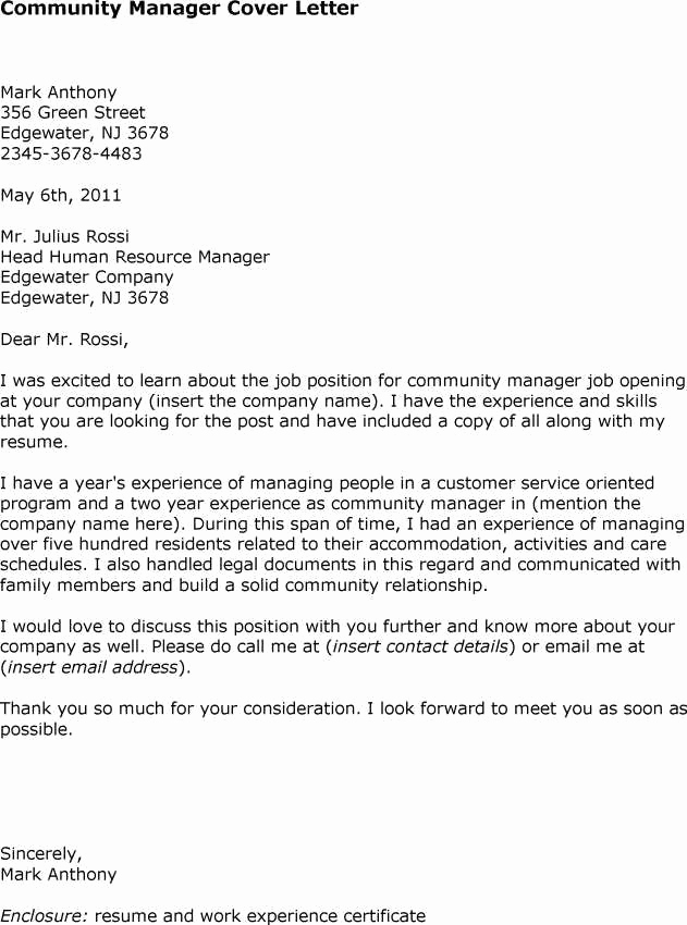Cover Letter for Manager Position Unique Cover Letter Sample Case Manager Position Cover Letters