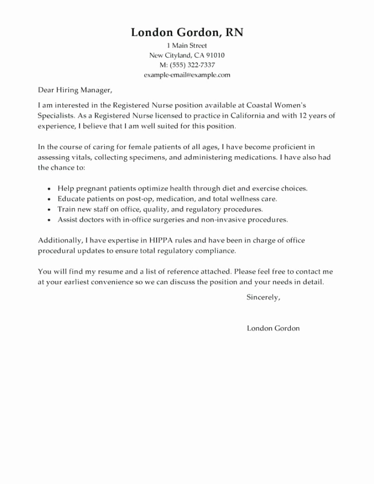 Cover Letter for Nursing Job Lovely Covering Letter for Nursing Job Financial Cover Nurse