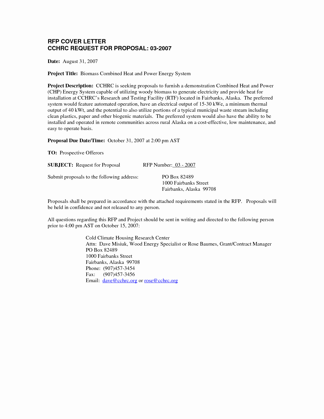 Cover Letter for Proposal Awesome Best S Of Request for Proposal Letter Example
