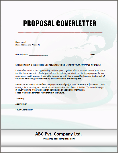 Cover Letter for Proposal Best Of Proposal Cover Letter Template Free