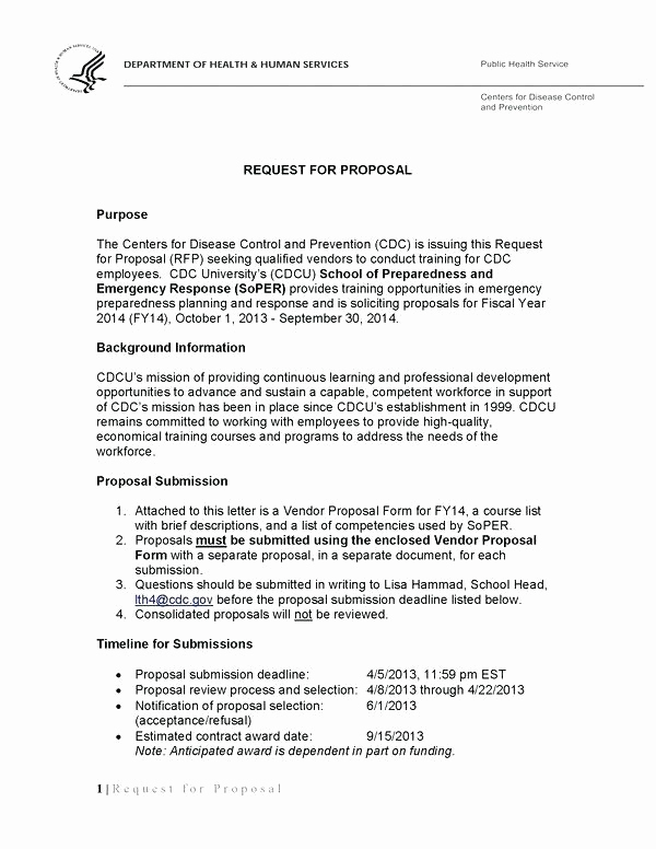 Cover Letter for Proposal Inspirational 15 Request for Proposal Example