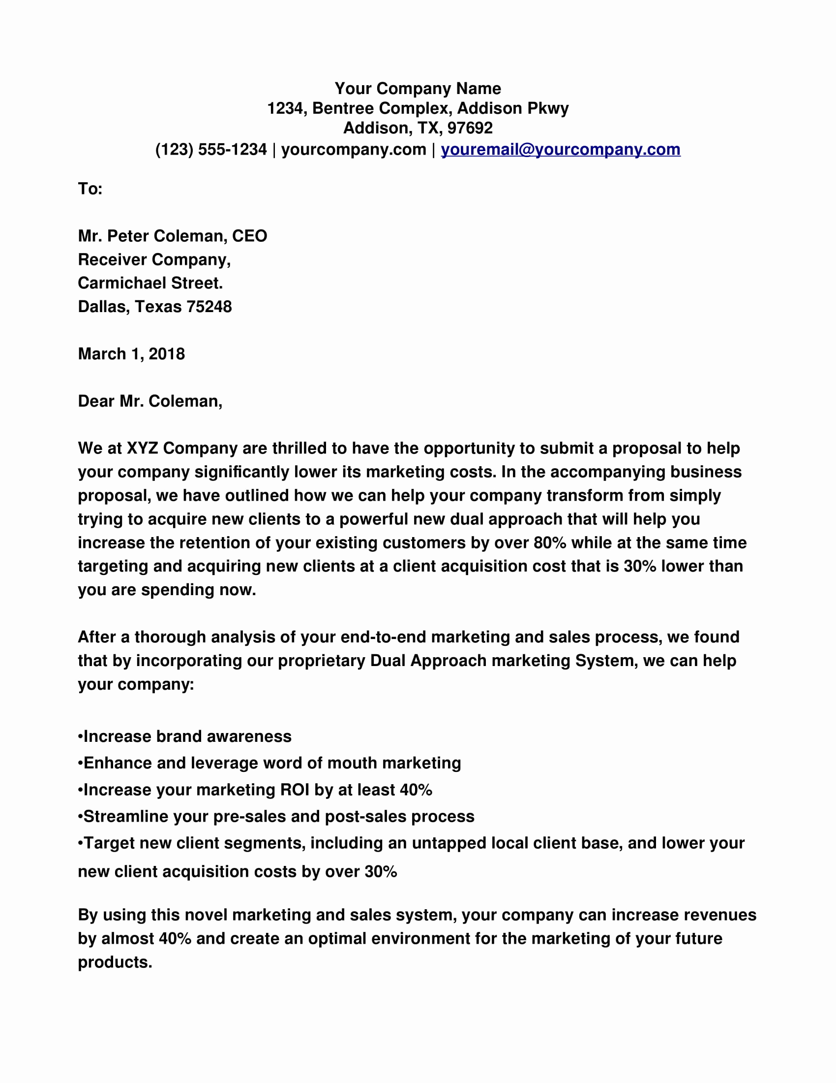 Cover Letter for Proposal Lovely Business Proposal Cover Letter Examples Pdf