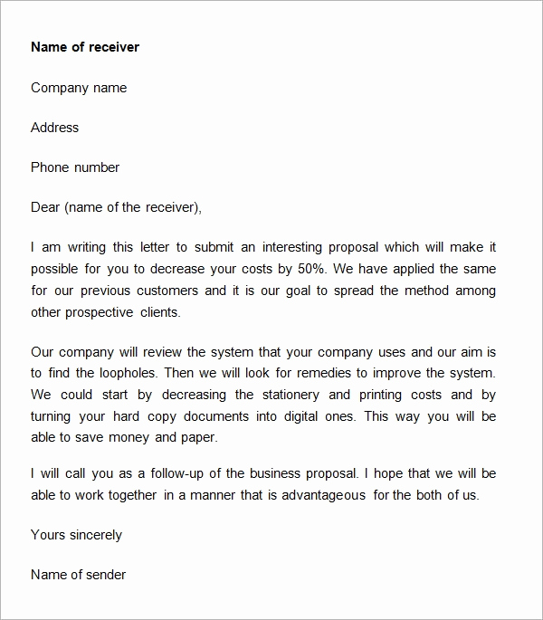 Cover Letter for Proposal Luxury 38 Sample Business Proposal Letters Pdf Doc