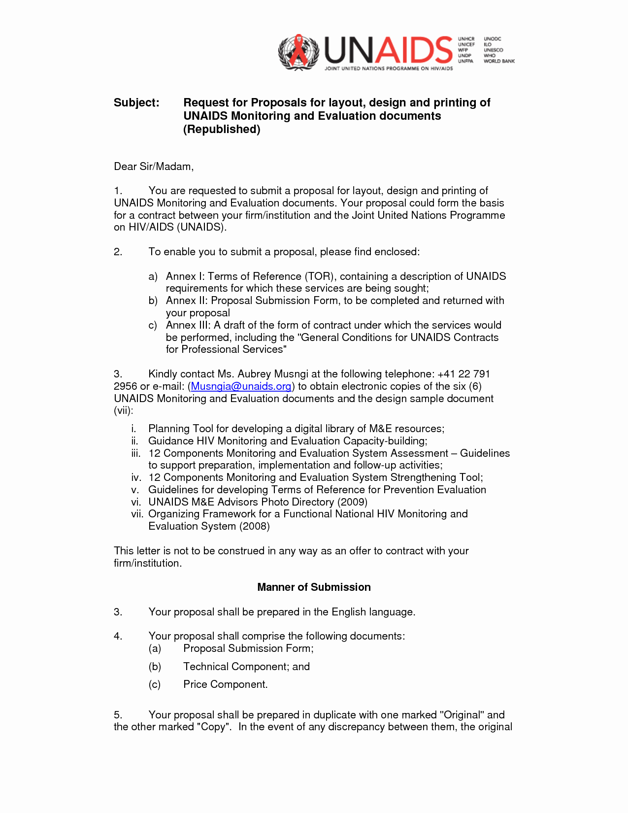 Cover Letter for Proposal New Rfp Cover Letter