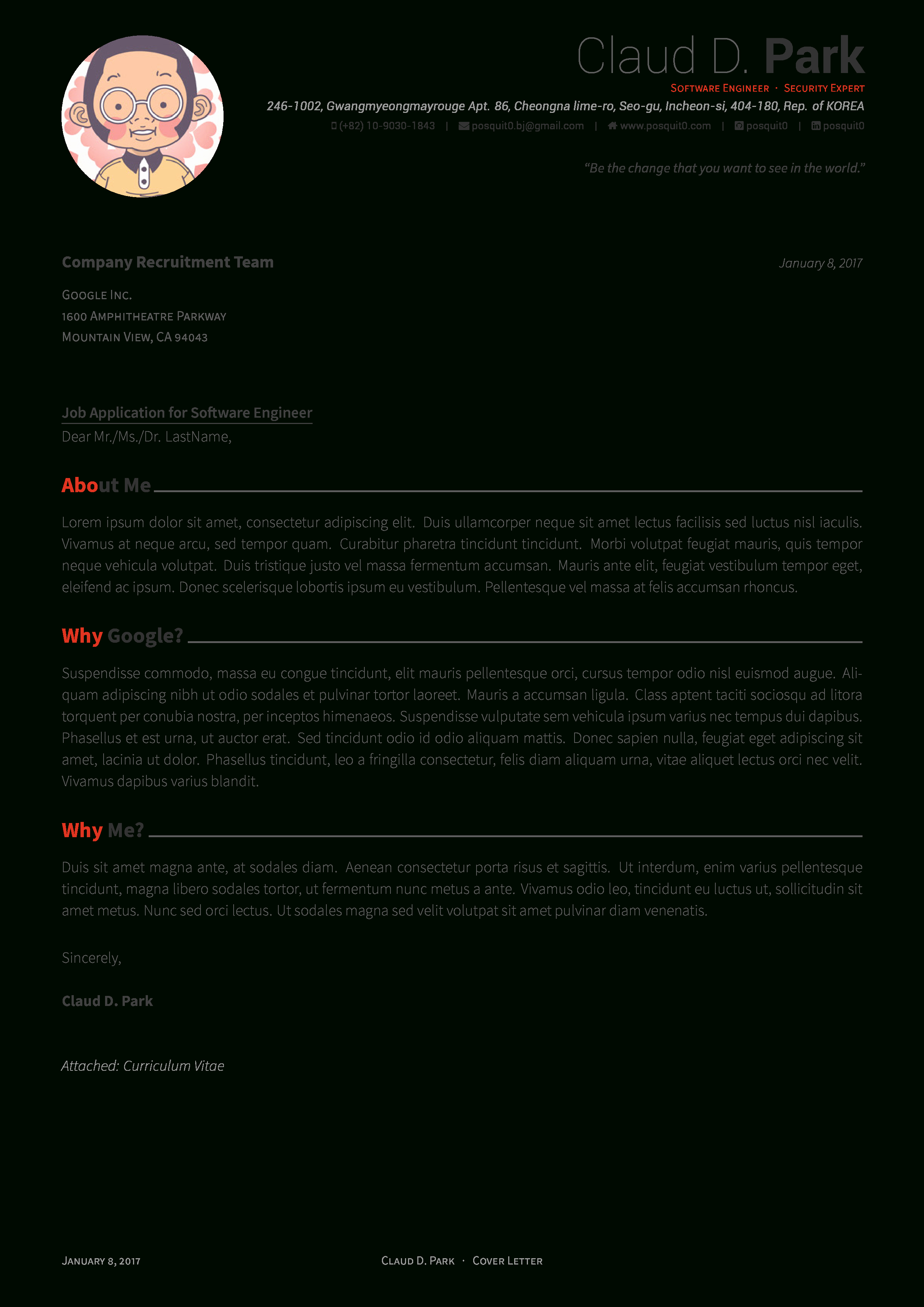 Cover Letter Latex Template Beautiful Latex Resume Template 2017