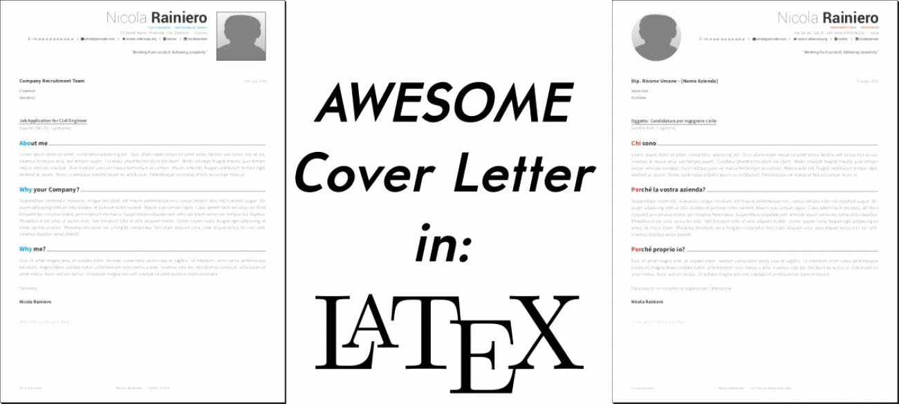 Cover Letter Latex Template Luxury Home