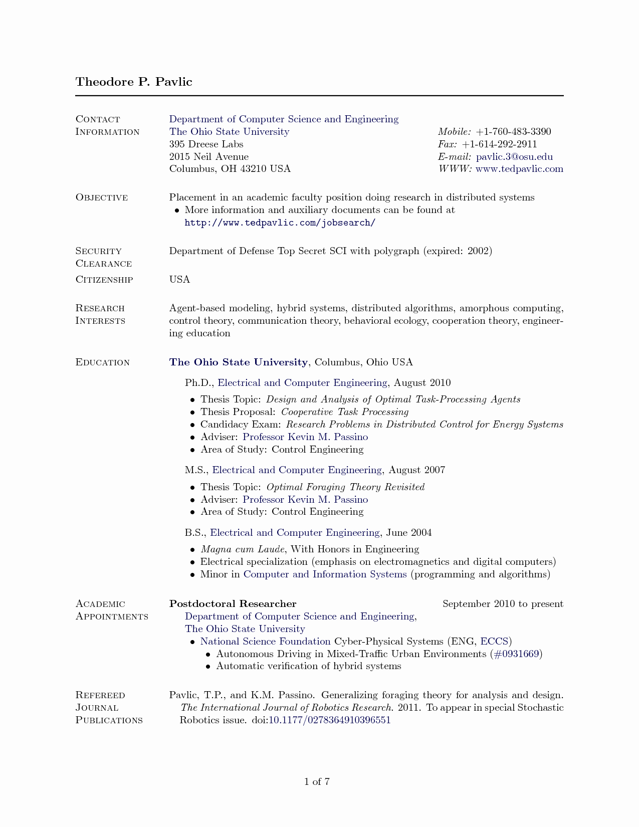 Cover Letter Latex Template New Latex Resume Template Puter Science