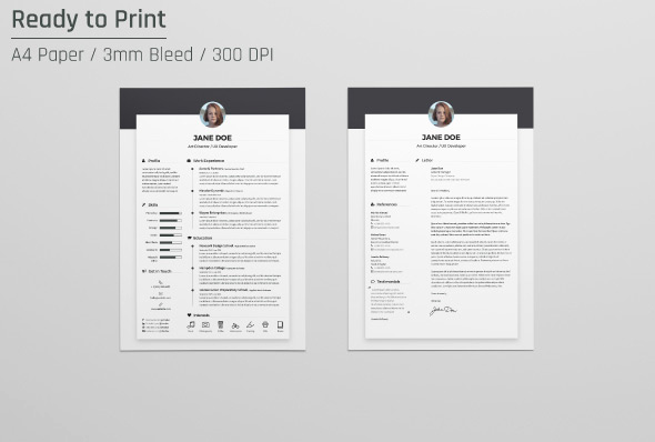 Cover Letter Template Doc Beautiful Free Resume Cv Design Template & Cover Letter In Doc Psd