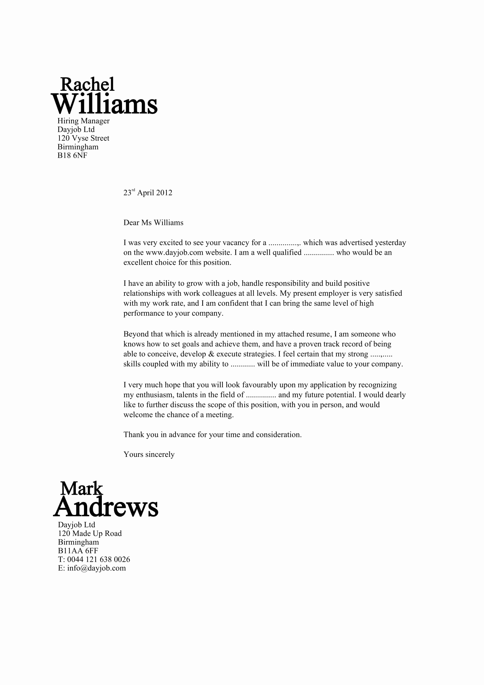 Cover Letter Template Doc Unique 32 Best Sample Cover Letter Examples for Job Applicants