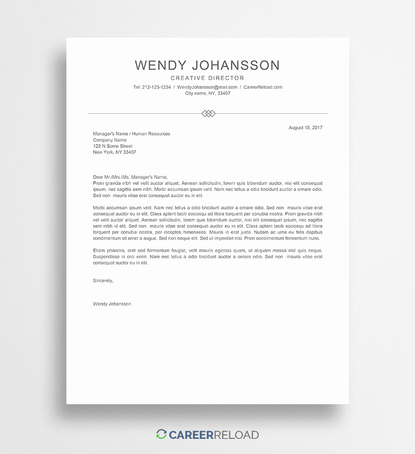 Cover Letter Template Doc Unique Download Free Resume Templates Free Resources for Job