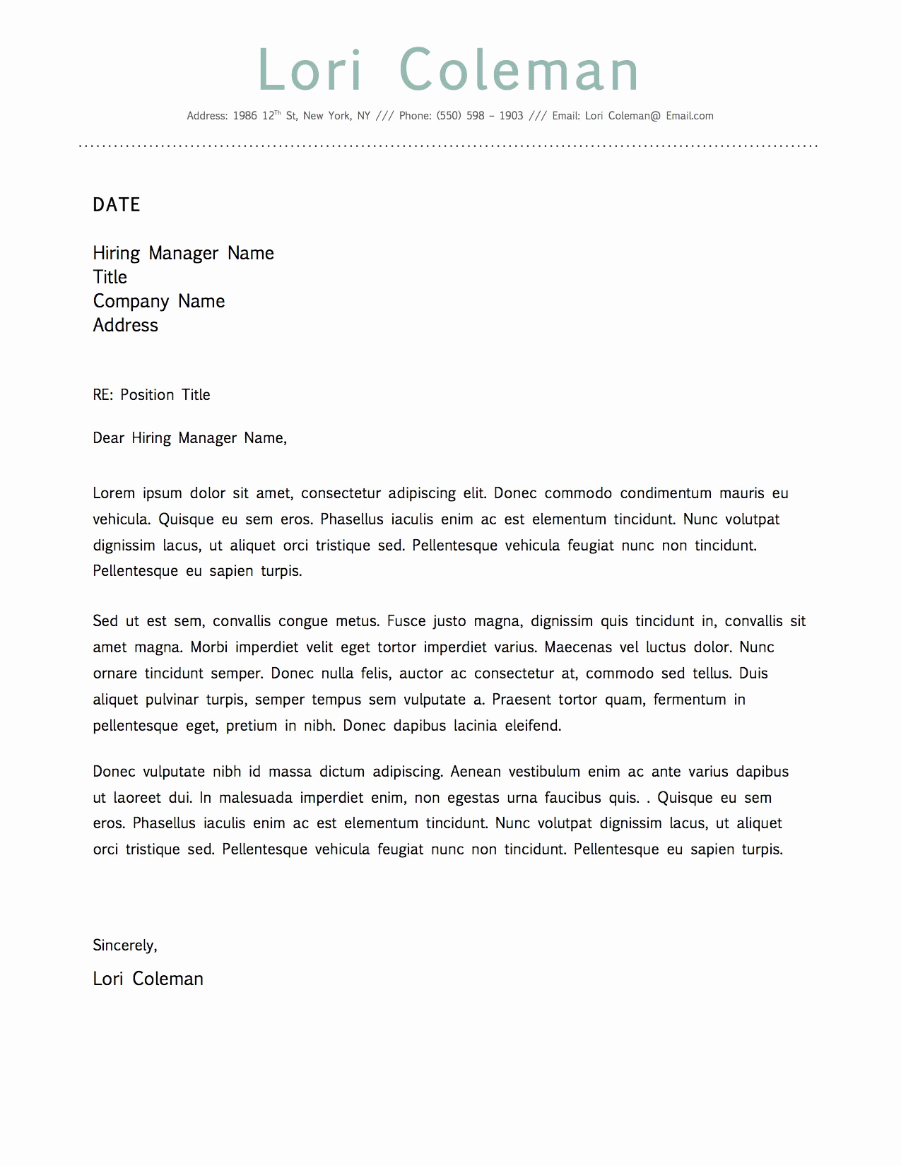 Cover Letter Word Template Elegant Simple Beautiful Cover Letter Template for Microsoft Word