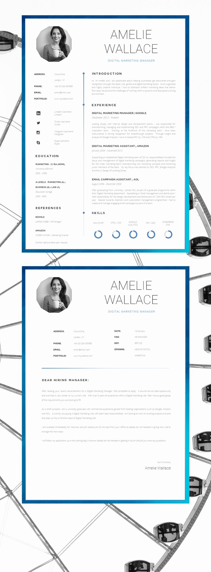 Cover Letter Word Template Lovely 25 Best Ideas About Creative Cv Template On Pinterest