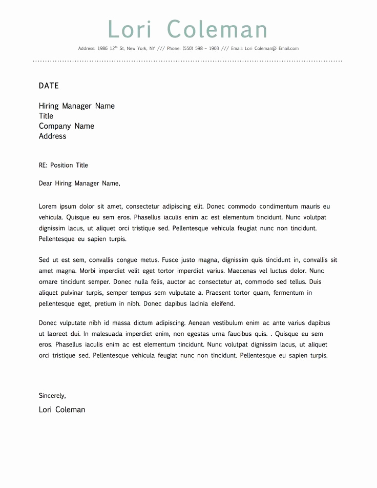 Cover Letter Word Template Luxury Simple Beautiful Cover Letter Template for Microsoft Word