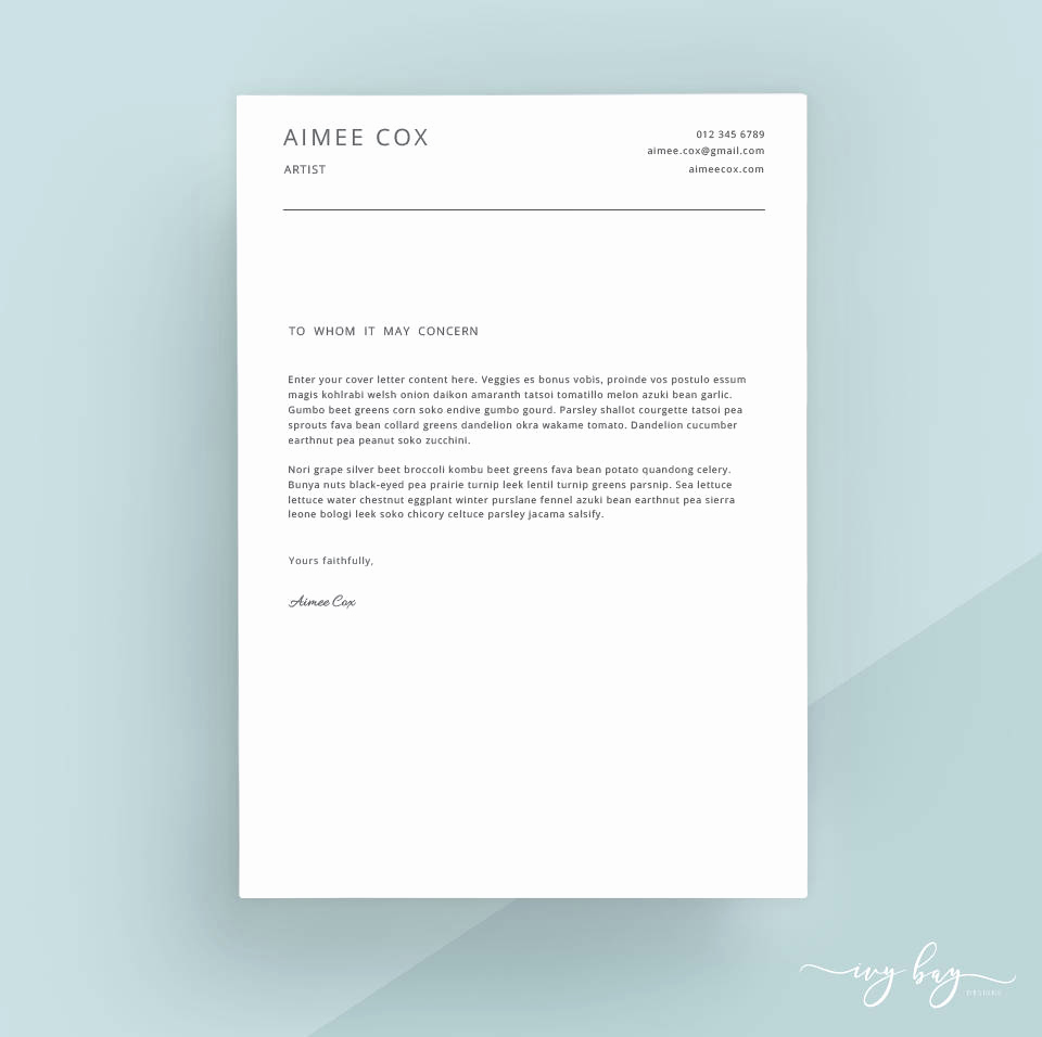 Cover Letter Word Template New Simple Cover Letter Template Cover Letter Letterhead Word