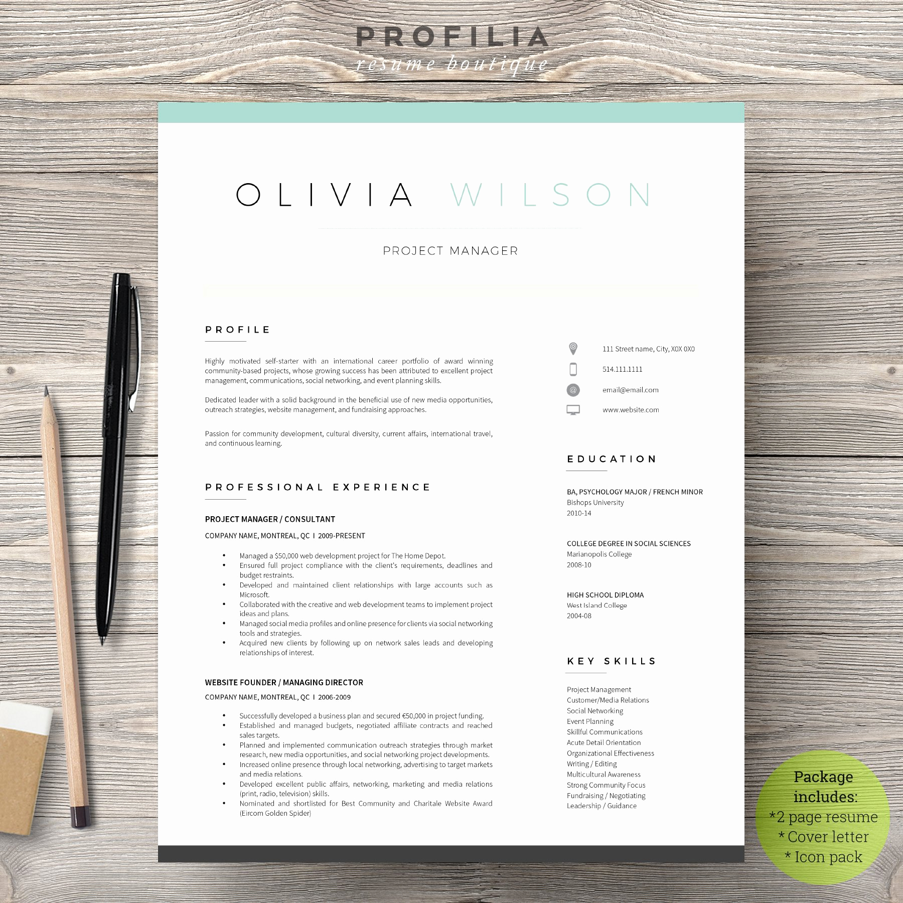 Cover Letter Word Template Unique Word Resume & Cover Letter Template Cover Letter