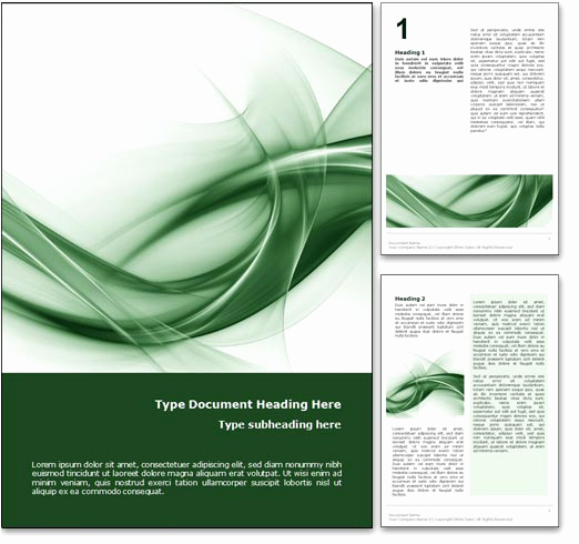 Cover Page Template Word Elegant Royalty Free Abstract Curves Microsoft Word Template In Green