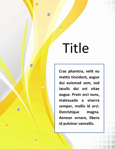 Cover Page Template Word Lovely Word Documentation Cover Page Template
