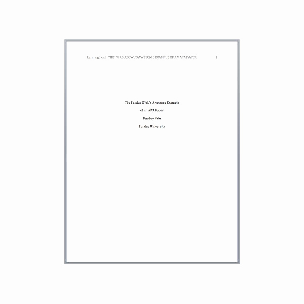 Cover Page Template Word New Apa Cover Page Template