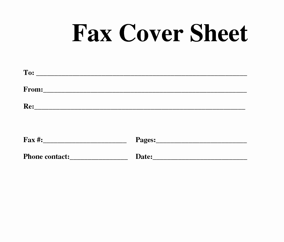 Cover Page Template Word Unique Fax Cover Sheet Template Word