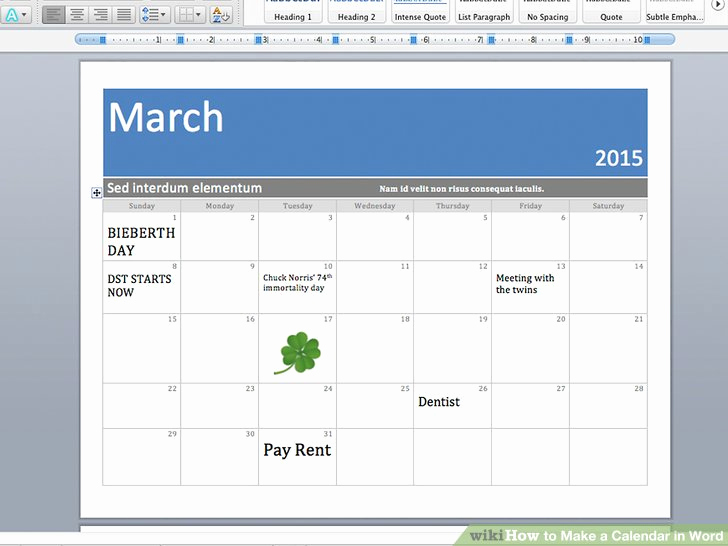 Create A Calendar In Word Beautiful How to Make A Calendar In Word with Wikihow