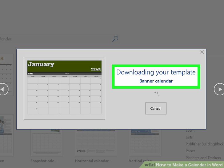 Create A Calendar In Word Best Of How to Make A Calendar In Word with Wikihow