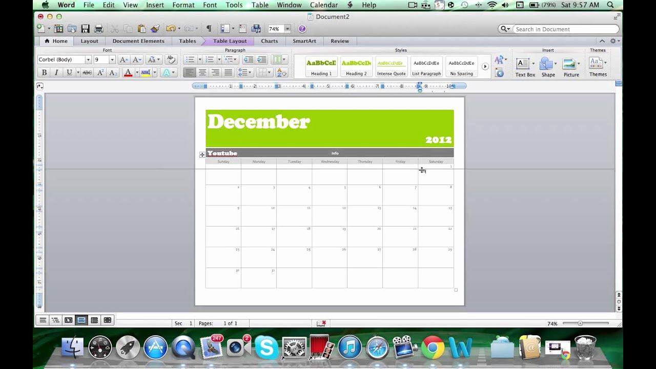 Create A Calendar In Word Fresh How to Make A Calendar On Microsoft Word 2011 Mac