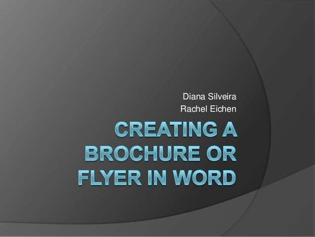 Create A Flyer In Word Elegant Creating A Brochure or Flyer In Word