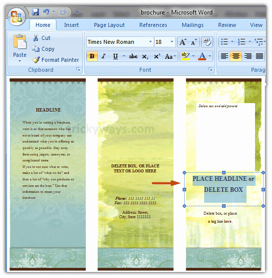 Create A Flyer In Word Fresh Create Brochure In Word 2007 or 2010