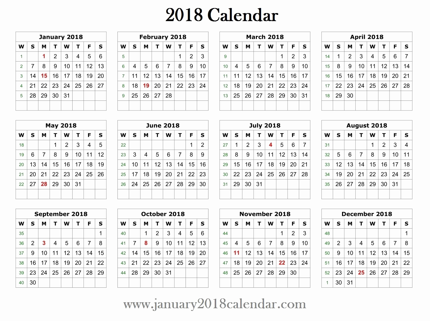 Create Calendar In Word Beautiful 2018 Printable Word Calendar Template