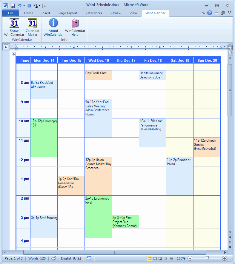 Create Calendar In Word Best Of Calendar Creator for Microsoft Word with Holidays