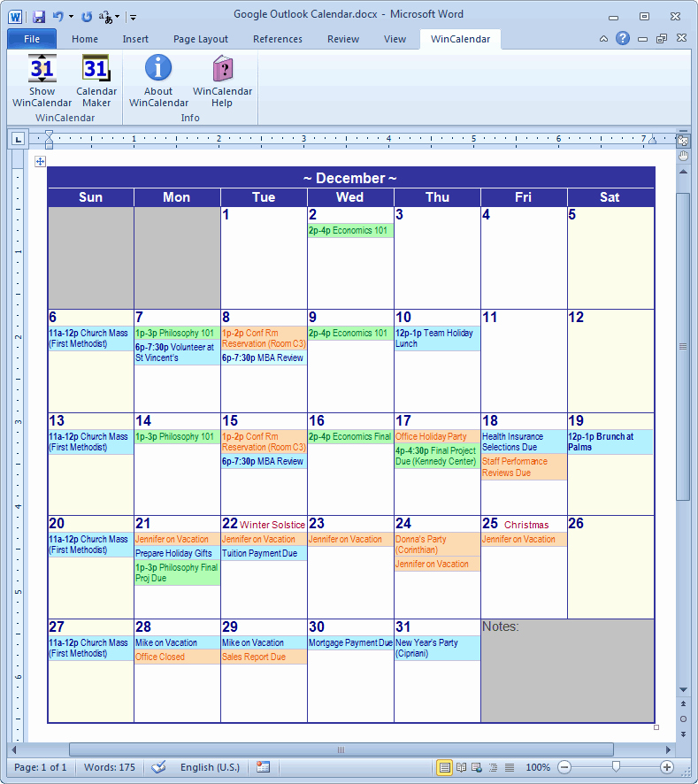 Create Calendar In Word Fresh Calendar Creator for Microsoft Word with Holidays
