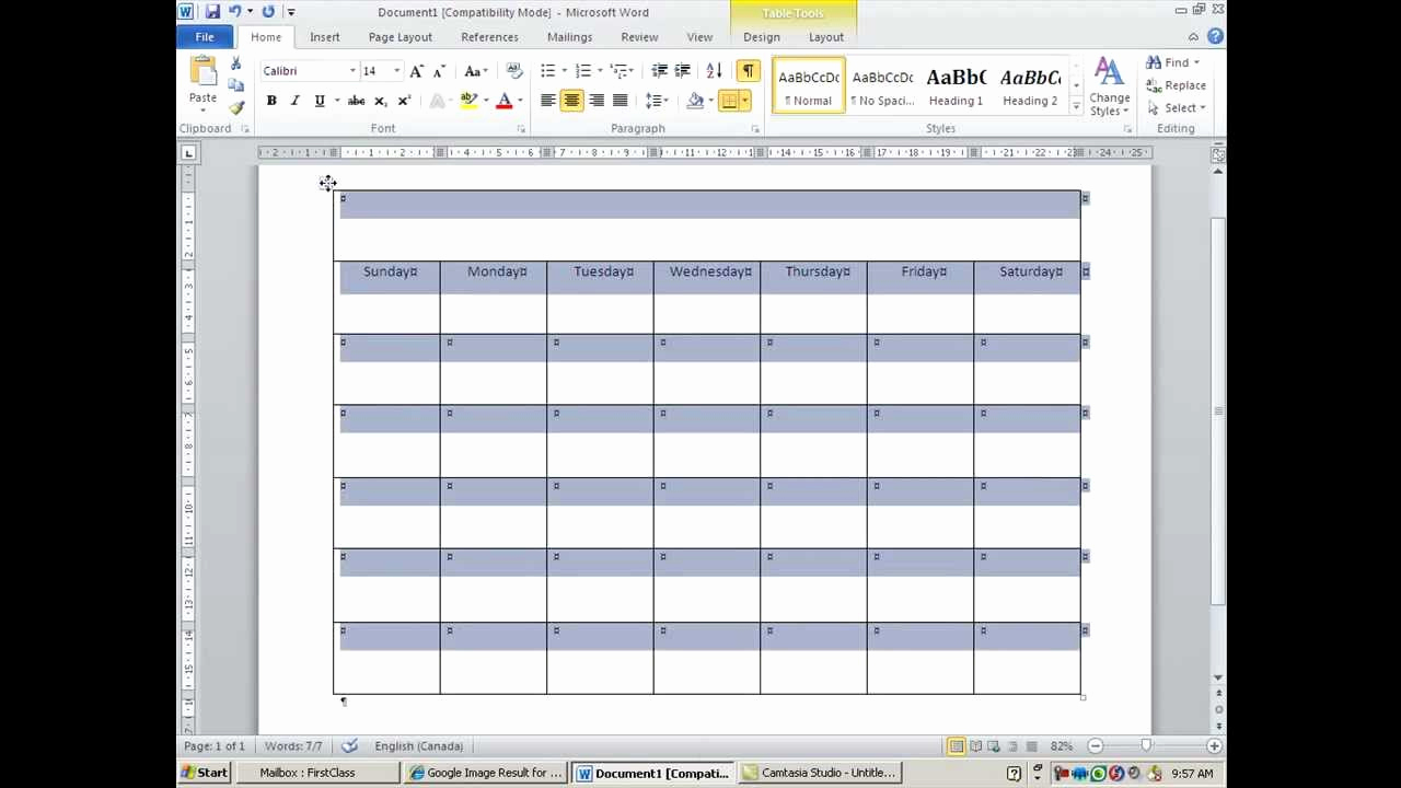 Create Calendar In Word Lovely How to Create and Customize Calendar In Ms Word