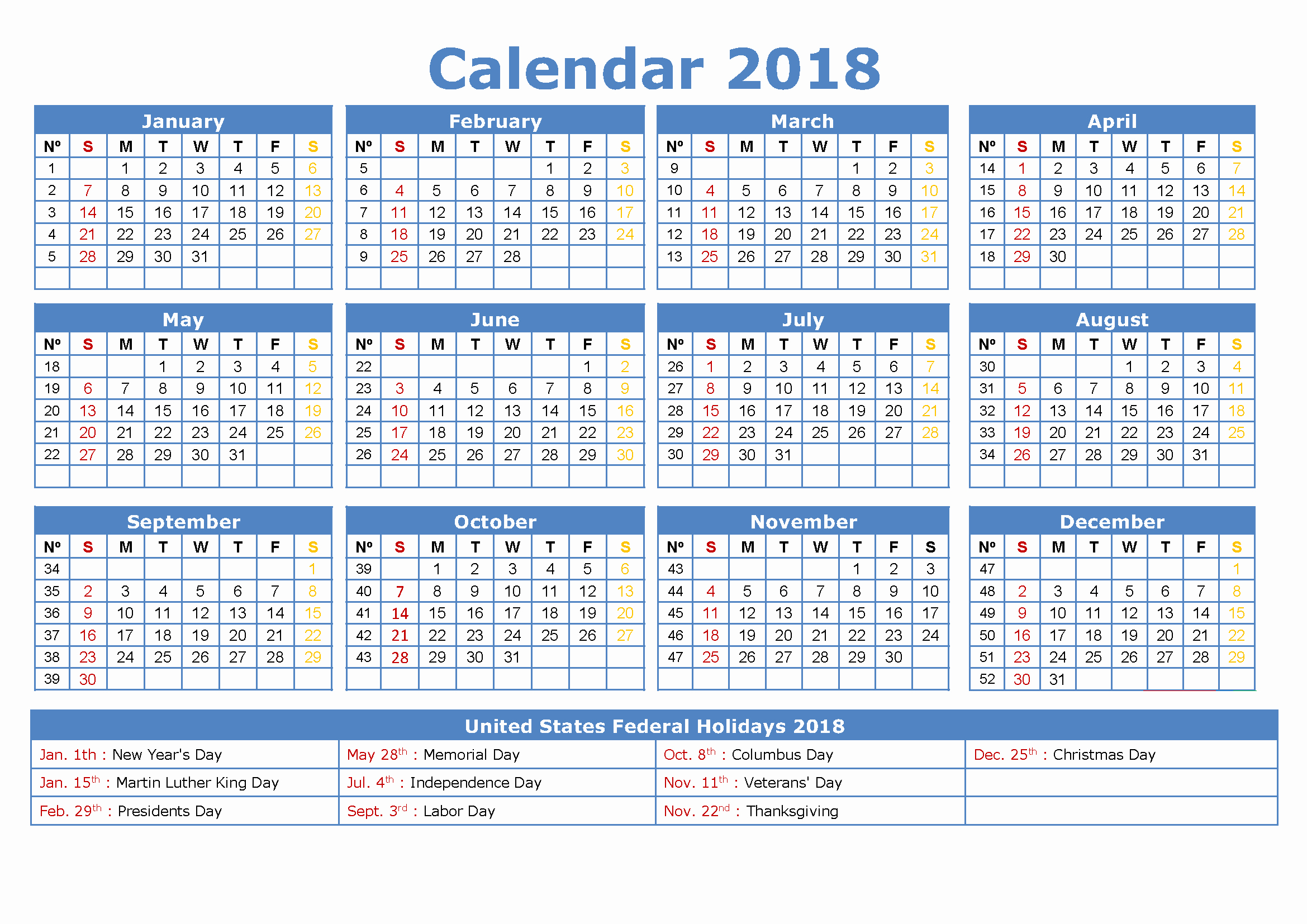 Create Calendar In Word Luxury 2018 Calendar Excel Pdf Word [download]