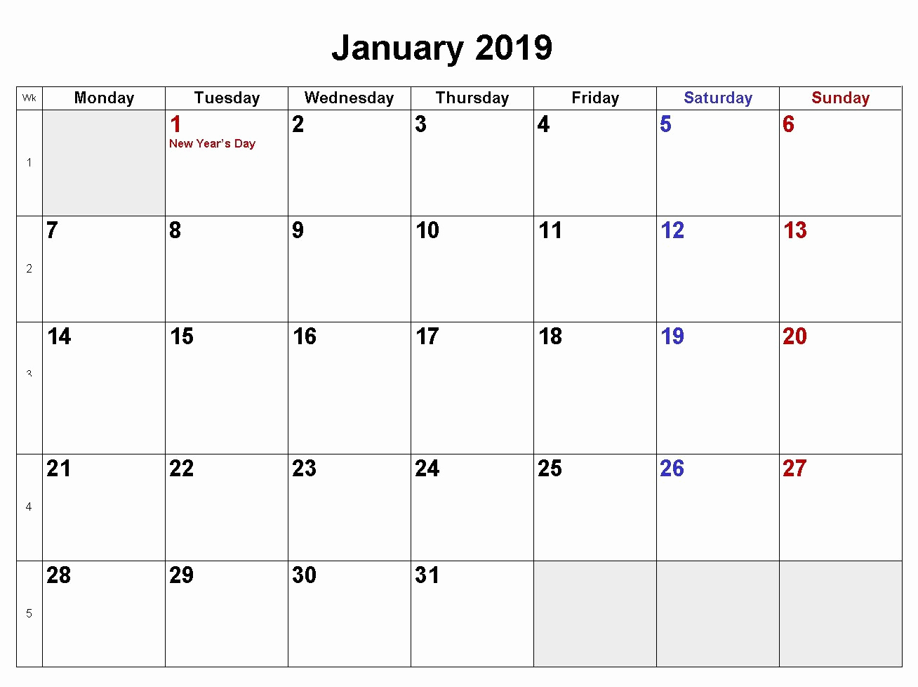 Create Calendar In Word Luxury January 2019 Calendar Download In Word Excel Pdf formats