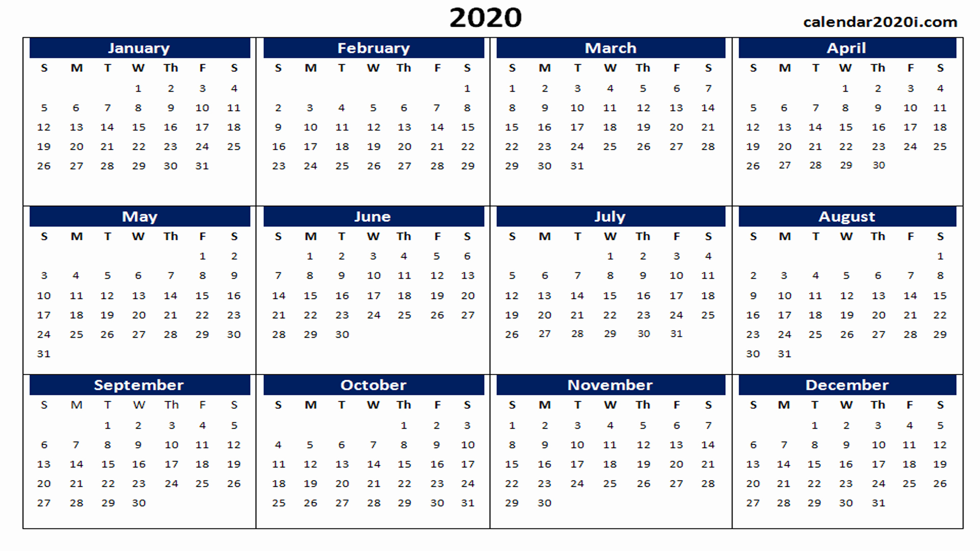 Create Calendar In Word New 2020 Calendar Printable Template Holidays Word Excel