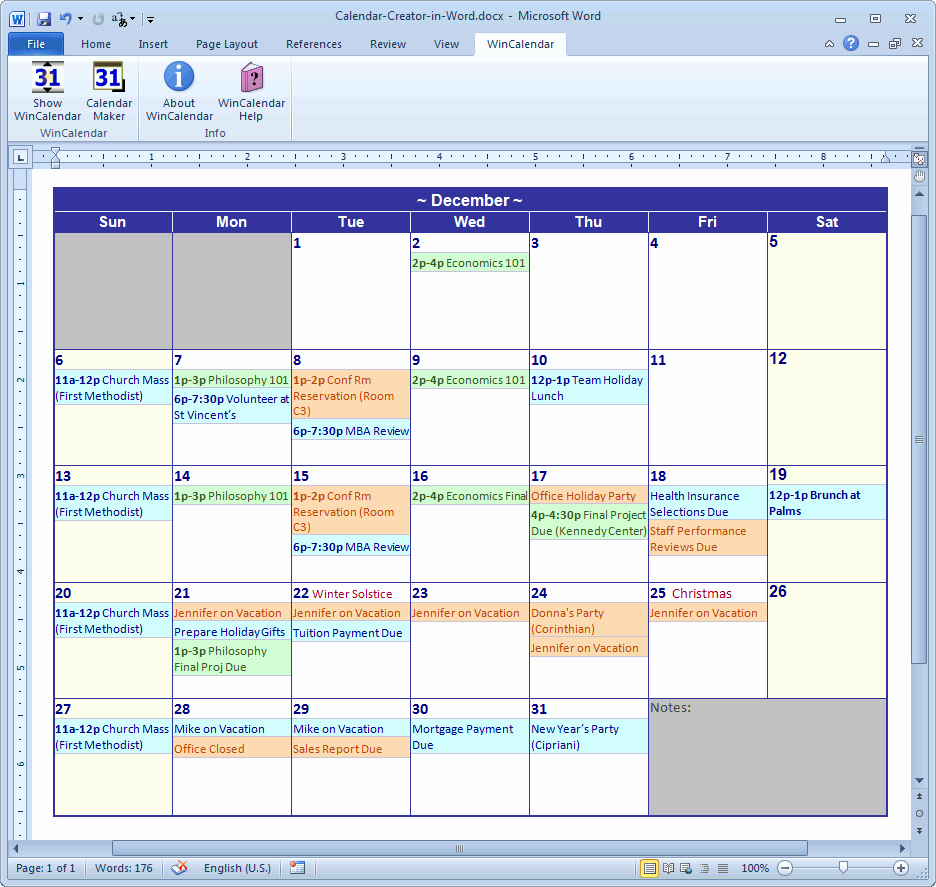 Create Calendar In Word New Calendar Maker & Calendar Creator for Word and Excel