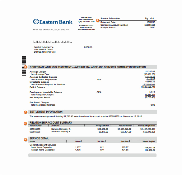 Create Fake Bank Statement Template New Sample Bank Statement 19 Documents In Pdf Word Excel