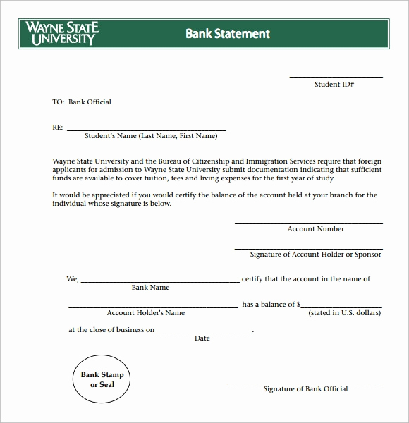 Create Fake Bank Statement Template Unique Bank Statement 9 Free Samples Examples format