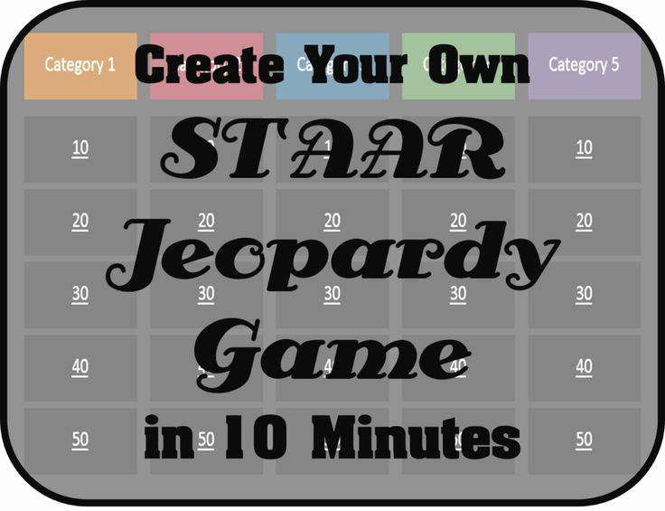 Create Your Own Jeopardy Game Awesome Create Your Own Staar Jeopardy Game