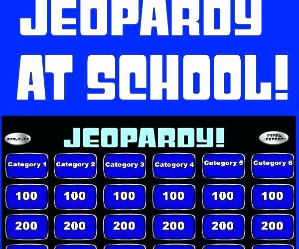 Create Your Own Jeopardy Game Awesome Jeopardy Game Template