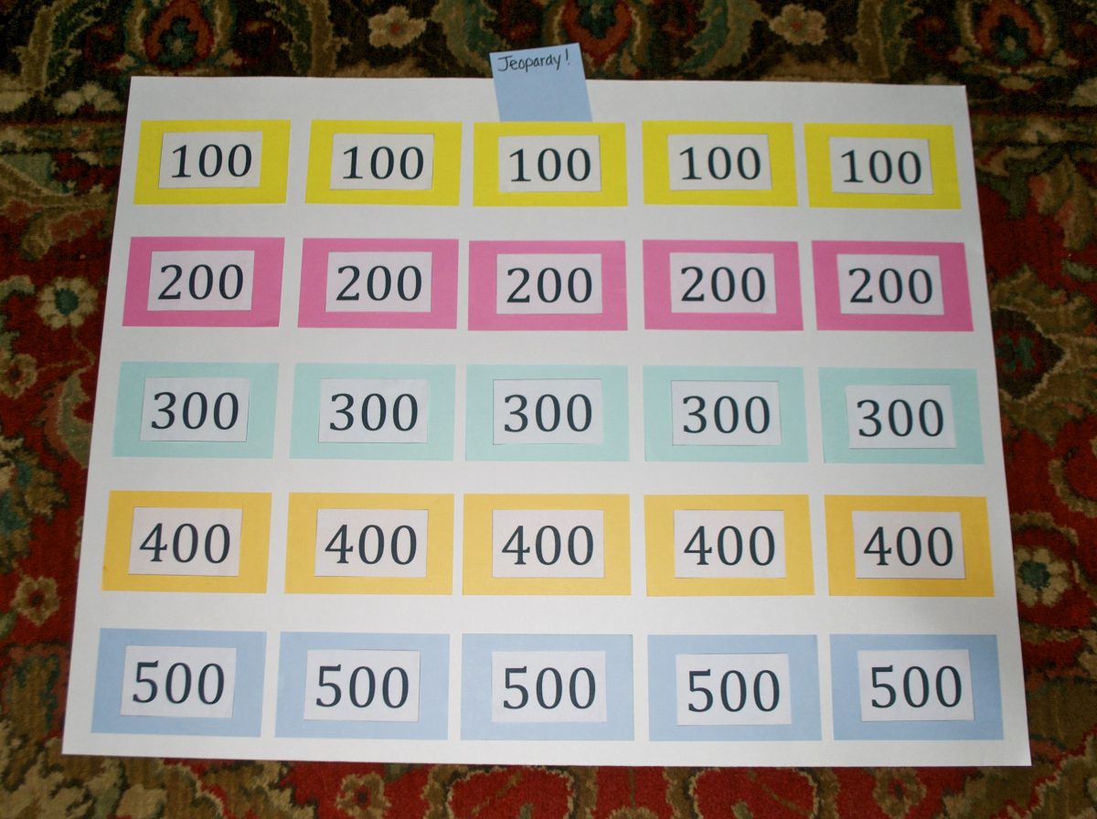 Create Your Own Jeopardy Game Elegant Homemade Jeopardy Board
