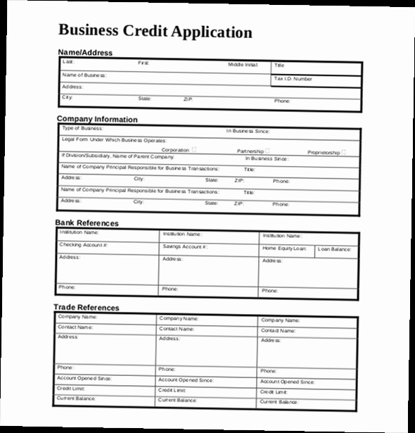Credit Application form Pdf Awesome Business Credit Application form Pdf